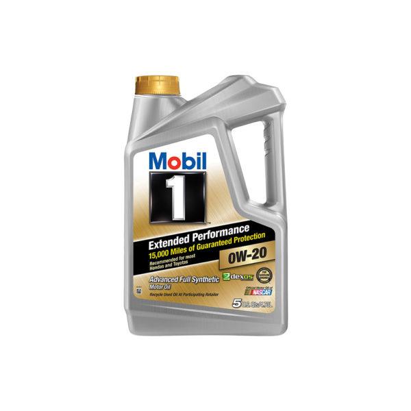 Mobil 1 Extended Performance 0W-20 Full Synthetic Motor Oil, 5 qt