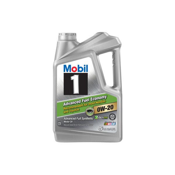 Mobil 1 0W-20 Advanced Fuel Economy Full Synthetic Motor Oil, 5 qt